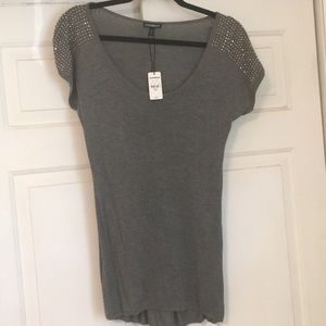 Express short sleeved sweater. NWT